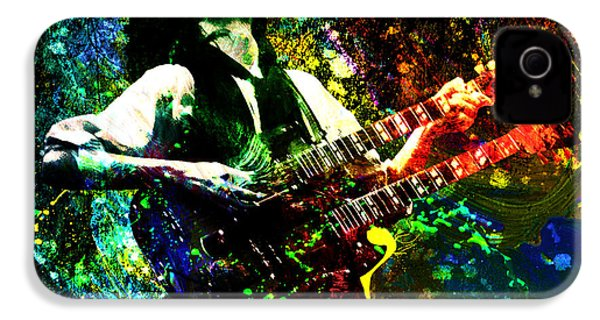 Jimmy Page - Led Zeppelin - Original Painting Print IPhone 4 Case by Ryan Rock Artist