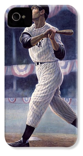 Joe Dimaggio IPhone 4 Case by Gregory Perillo