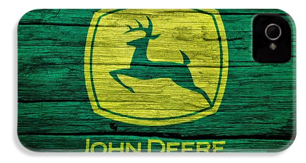 John Deere Barn Door IPhone 4 Case by Dan Sproul