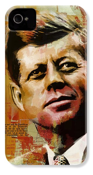 John F. Kennedy IPhone 4 Case by Corporate Art Task Force