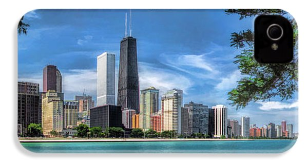 John Hancock Chicago Skyline Panorama IPhone 4 Case by Christopher Arndt