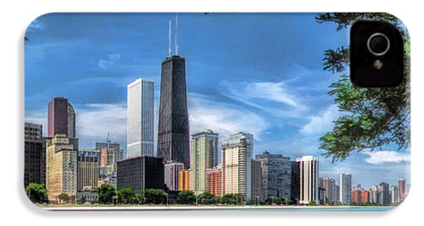 John Hancock Chicago Skyline Panorama IPhone 4 / 4s Case by Christopher Arndt