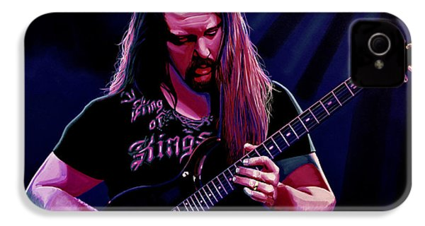 John Petrucci Painting IPhone 4 Case by Paul Meijering