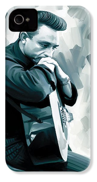 Johnny Cash Artwork 3 IPhone 4 / 4s Case by Sheraz A