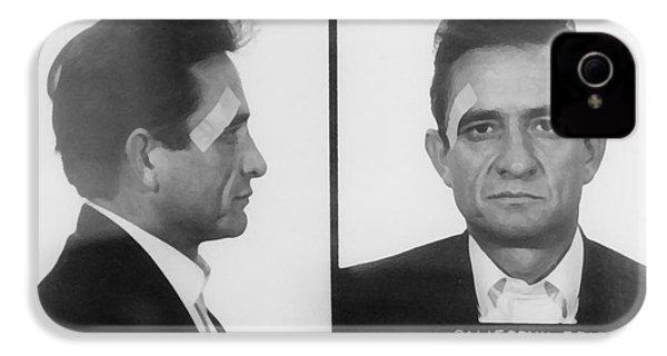 Johnny Cash Folsom Prison IPhone 4 Case by David Millenheft