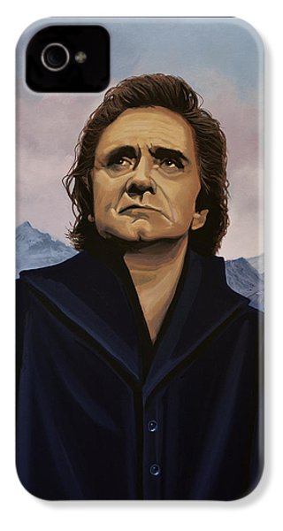Johnny Cash Painting IPhone 4 Case by Paul Meijering