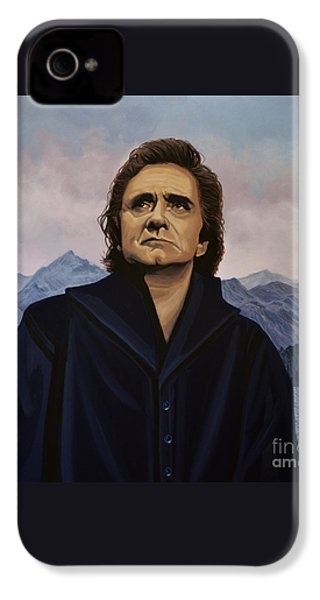 Johnny Cash Painting IPhone 4 / 4s Case by Paul Meijering