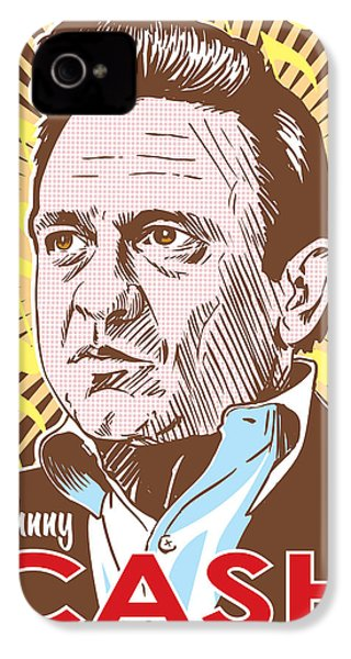 Johnny Cash Pop Art IPhone 4 Case by Jim Zahniser