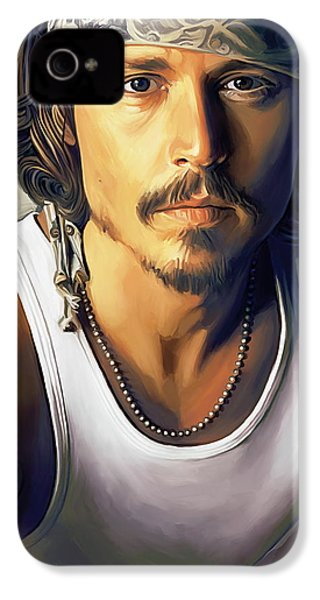 Johnny Depp Artwork IPhone 4 Case