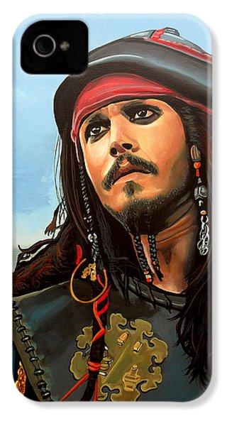 Johnny Depp As Jack Sparrow IPhone 4 Case by Paul Meijering