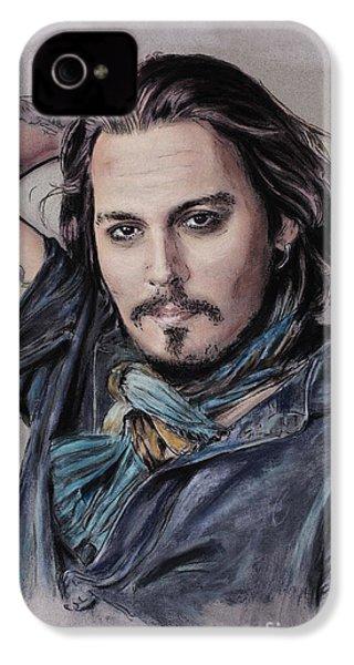 Johnny Depp IPhone 4 Case by Melanie D