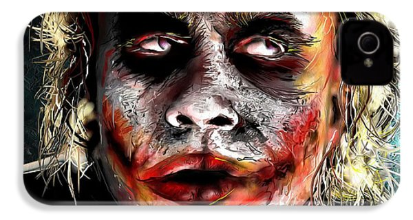 Joker Painting IPhone 4 Case by Daniel Janda