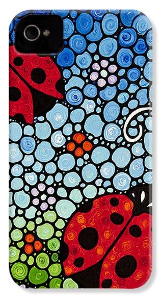 Joyous Ladies Ladybugs IPhone 4 Case