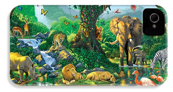 Jungle Harmony IPhone 4 / 4s Case by Chris Heitt