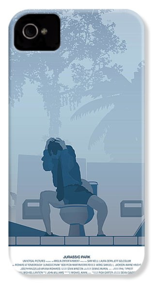 Jurassic Park Poster - Feat. Gennaro IPhone 4 / 4s Case by Peter Cassidy