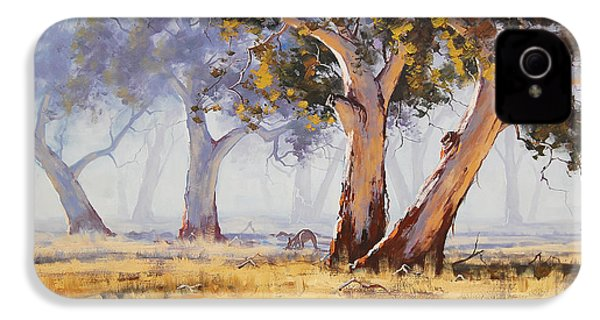 Kangaroo Grazing IPhone 4 / 4s Case by Graham Gercken