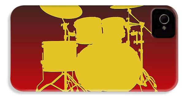 Kansas City Chiefs Drum Set IPhone 4 Case by Joe Hamilton