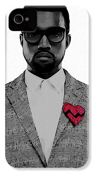 Kanye West  IPhone 4 Case by Dan Sproul