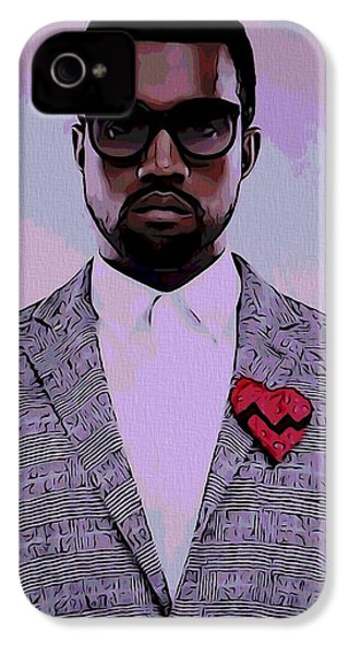 Kanye West Poster IPhone 4 Case by Dan Sproul