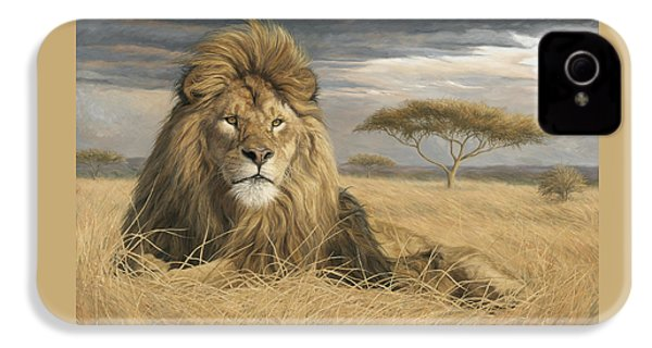 King Of The Pride IPhone 4 Case by Lucie Bilodeau