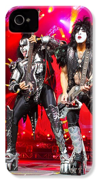 Kiss - 40th Anniversary Tour Live - Simmons And Stanley IPhone 4 Case by Epic Rights