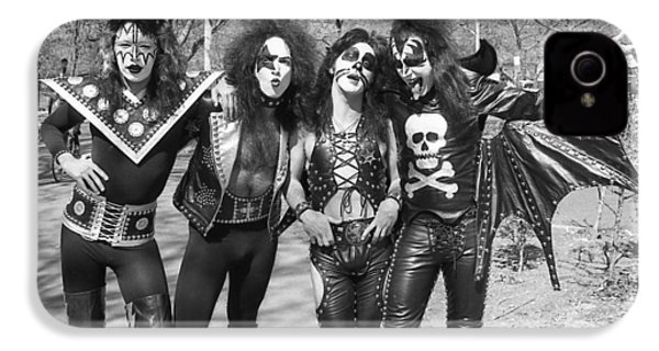 Kiss - Group Early Years IPhone 4 Case by Epic Rights
