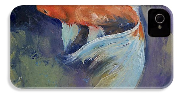 Koi Fish Painting IPhone 4 / 4s Case by Michael Creese