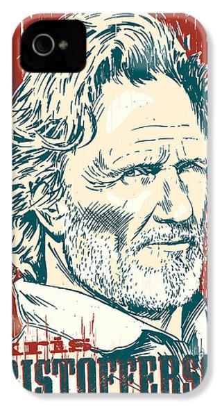 Kris Kristofferson Pop Art IPhone 4 Case by Jim Zahniser