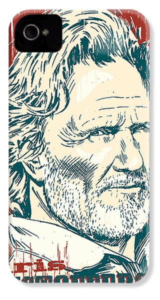 Kris Kristofferson Pop Art IPhone 4 Case