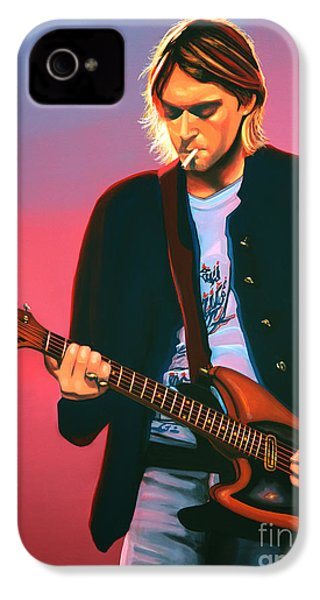 Kurt Cobain In Nirvana Painting IPhone 4 / 4s Case by Paul Meijering