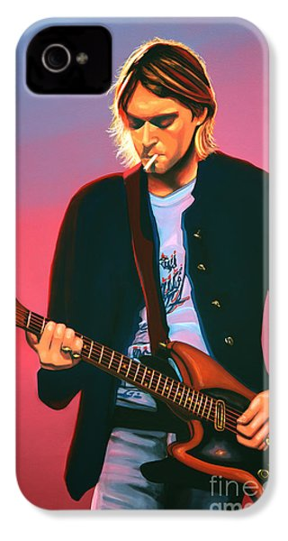 Kurt Cobain In Nirvana Painting IPhone 4 Case by Paul Meijering