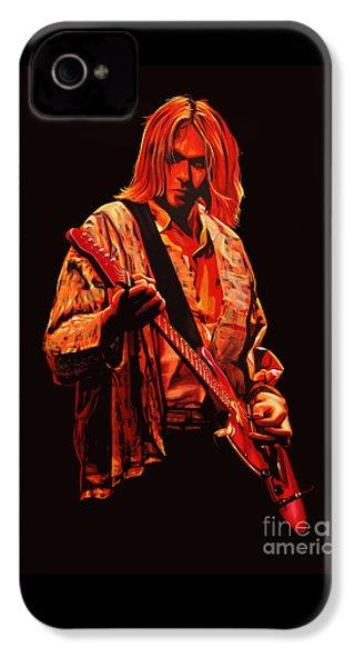 Kurt Cobain Painting IPhone 4 Case by Paul Meijering