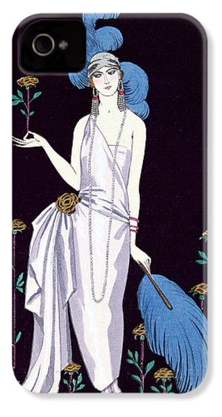 'la Roseraie' Fashion Design For An Evening Dress By The House Of Worth IPhone 4 / 4s Case by Georges Barbier