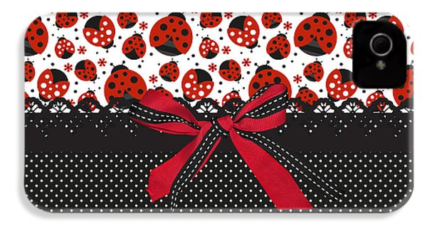 Ladybug Energy  IPhone 4 Case by Debra  Miller