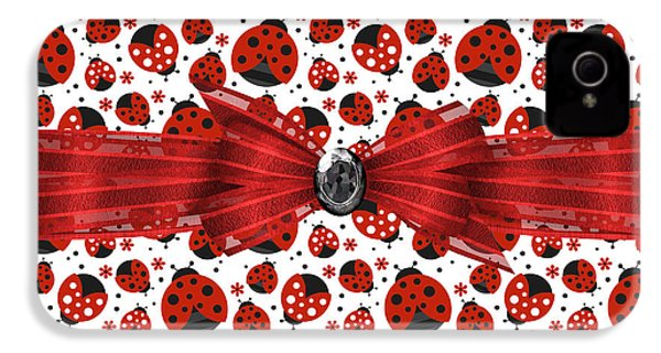 Ladybug Obsession  IPhone 4 Case by Debra  Miller