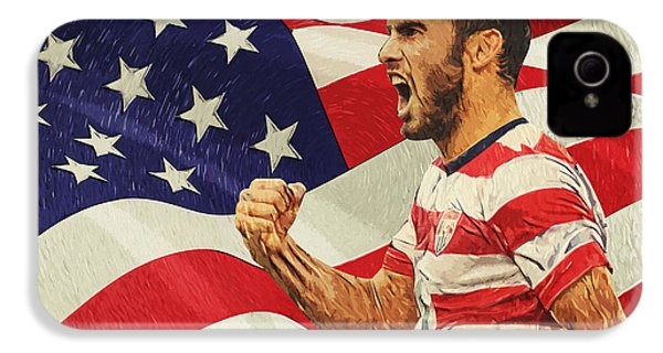 Landon Donovan IPhone 4 Case by Taylan Apukovska