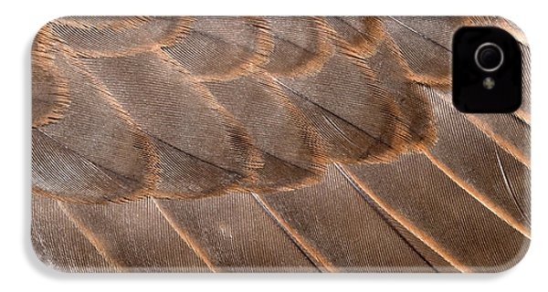 Lanner Falcon Wing Feathers Abstract IPhone 4 Case by Nigel Downer