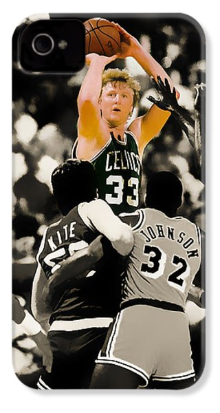 Larry Bird IPhone 4 / 4s Case by Brian Reaves
