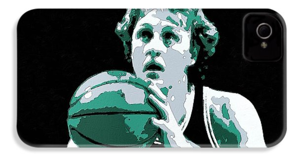 Larry Bird Poster Art IPhone 4 / 4s Case by Florian Rodarte