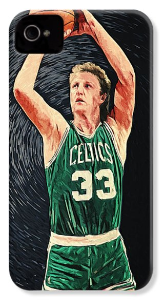 Larry Bird IPhone 4 / 4s Case by Taylan Apukovska