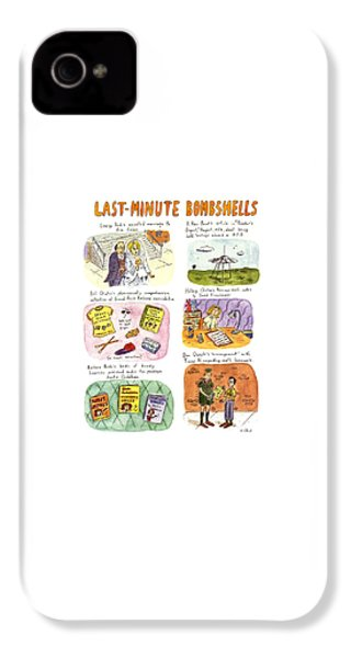 Last-minute Bombshells IPhone 4 Case by Roz Chast