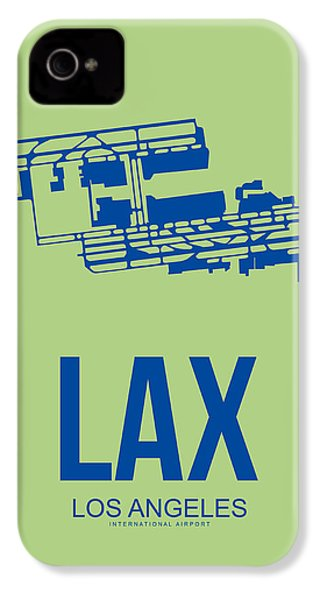 Lax Airport Poster 1 IPhone 4 Case by Naxart Studio