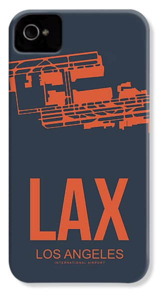 Lax Airport Poster 3 IPhone 4 Case by Naxart Studio