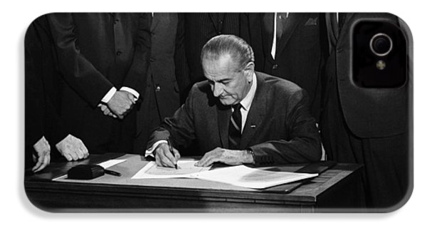 Lbj Signs Civil Rights Bill IPhone 4 Case