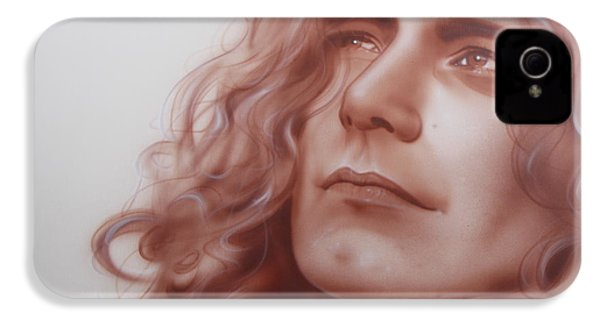Robert Plant - ' Leaves Are Falling All Around ' IPhone 4 Case by Christian Chapman Art