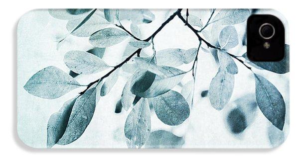 Leaves In Dusty Blue IPhone 4 Case by Priska Wettstein