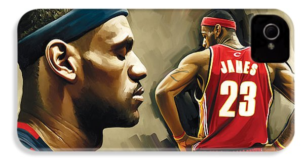 Lebron James Artwork 1 IPhone 4 Case by Sheraz A