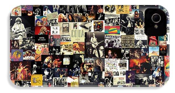 Led Zeppelin Collage IPhone 4 Case by Taylan Apukovska