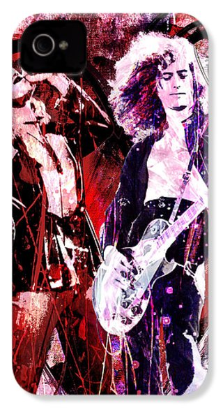 Led Zeppelin - Jimmy Page And Robert Plant IPhone 4 Case by Ryan Rock Artist