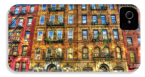 Led Zeppelin Physical Graffiti Building In Color IPhone 4 / 4s Case by Randy Aveille